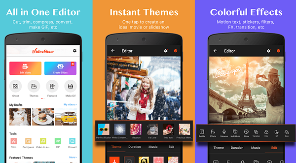 VideoShow is one of the best Free Video Editing Apps for Android.