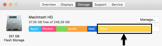 What is 'Other' on Mac Storage