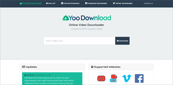 YooDownload is one of the best KeepVid Alternative Websites to Download Videos.