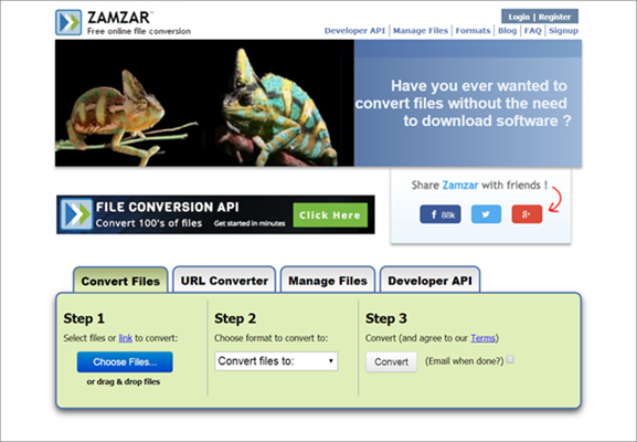 Zamzar is one of the best KeepVid Alternative Websites to Download Videos.