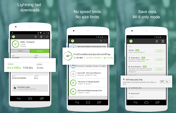 µTorrent is one of the best Torrent Apps and Downloaders for Android.