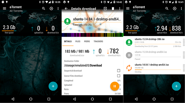 aTorrent is one of the best Torrent Apps and Downloaders for Android.