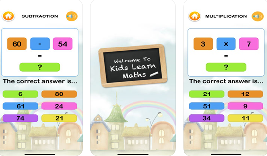 Kids learn Math Training Games is one of the best Math Apps for Kids in iPhone and iPad.