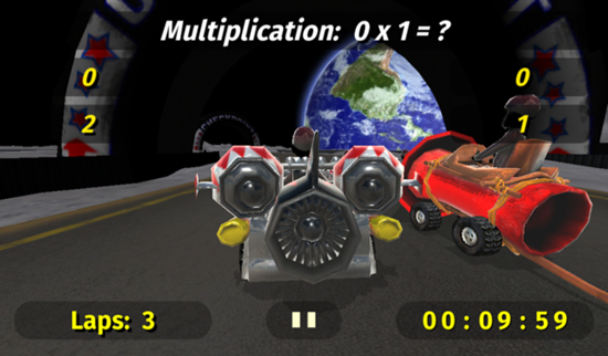 Math Racing 2 is one of the best Math Apps for Kids in iPhone and iPad.