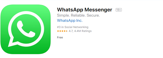 WhatsApp is one of the best Free Text Messaging Apps for iOS.