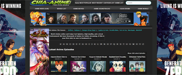 Chia-Anime is one of the Top Best KissAnime Alternative Websites to Watch Anime.