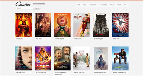 CMovies is one of the top best Project Free TV Alternative Websites for Free Video Streaming.