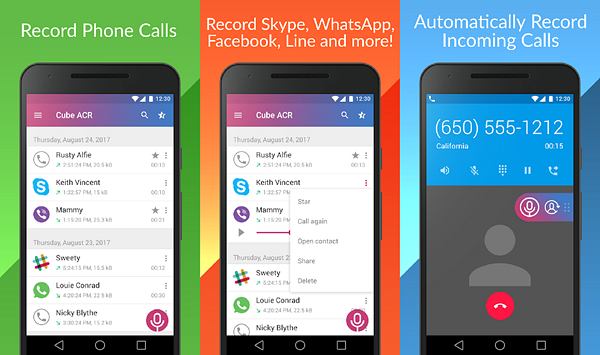 Using Cube Call Recorder ACR to Record WhatsApp Video Calls on Android.