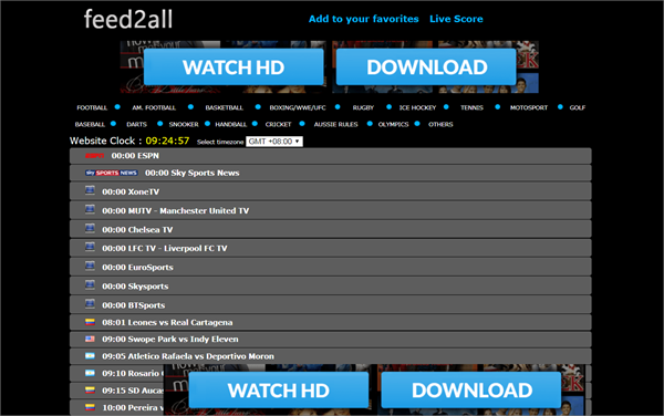 Feed2All is one of the best Websites Like FirstRow Sports for Online Sports Streaming.