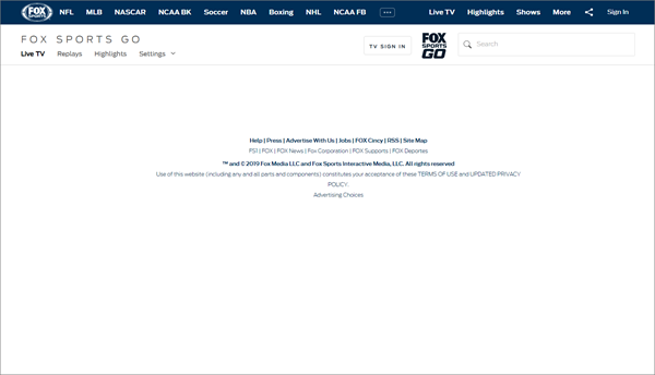 FOX Sports GO is one of the best Websites Like FirstRow Sports for Online Sports Streaming.