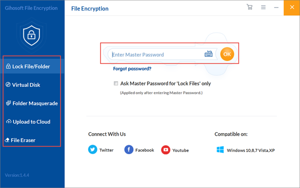 Gihosoft File Encryption is one of the top Best Free File Encryption Software.