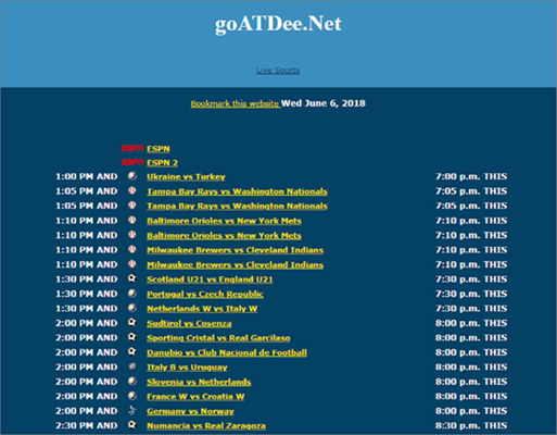goATDee is one of the top best Websites Like VipBox to Watch Sports Stuff.