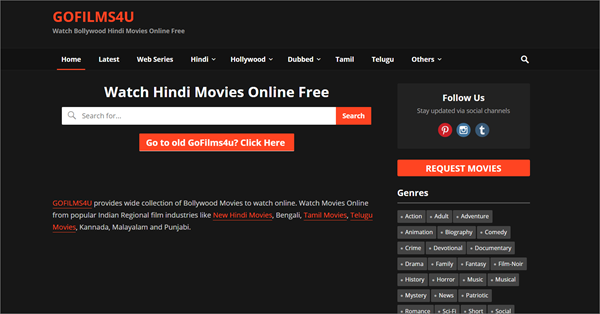 Gofilms4u is one of the top best Bolly4uHD Alternative Websites Providing Blue-Ray Movies.