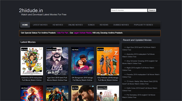 Hiidude is one of the top best Bolly4uHD Alternative Websites Providing Blue-Ray Movies.