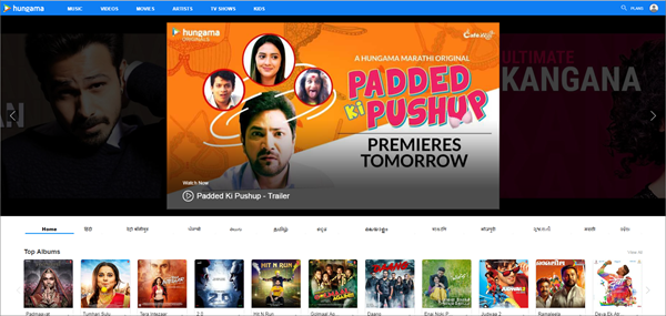 Hungama is one of the top best Bolly4uHD Alternative Websites Providing Blue-Ray Movies.