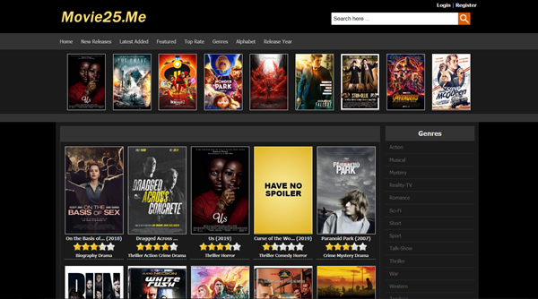 Movie25.Me is one of the bop best Alternatives to 123Movies for You.