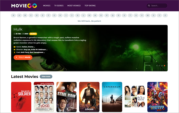 MovieGO is one of the top best Rainierland Alternative Websites to Watch Movies.
