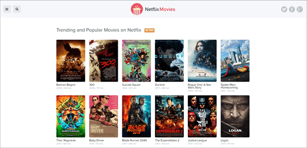 Netflix Movies is one of the top best Rainierland Alternative Websites to Watch Movies.
