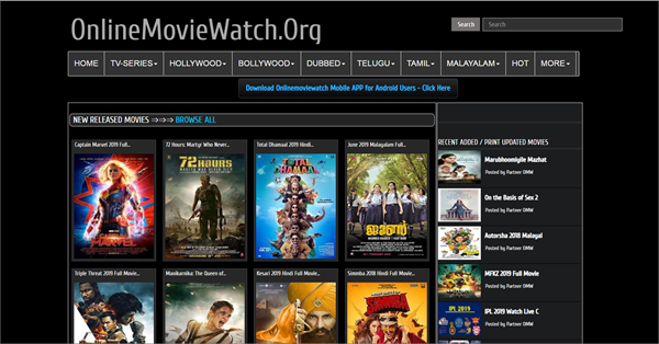 OnlineMovieWatch is one of the top best Bolly4uHD Alternative Websites Providing Blue-Ray Movies.