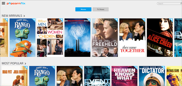 PopcornFlix is one of the bop best Alternatives to 123Movies for You.