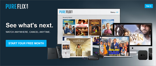PureFlix is one of the top best Project Free TV Alternative Websites for Free Video Streaming.