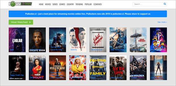 Putlocker.cl is one of the top best Rainierland Alternative Websites to Watch Movies.