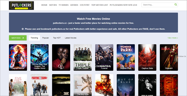 Putlocker.cz is one of the top best Bolly4uHD Alternative Websites Providing Blue-Ray Movies.