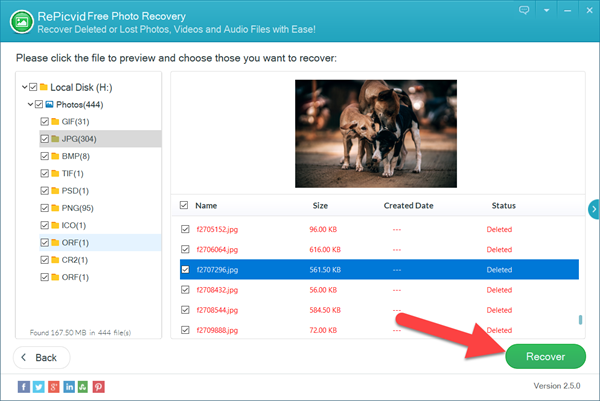 How to Recover CR2 Photos Free with RePicvid.