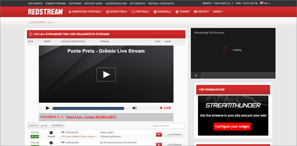 RedstreamSport is one of the top best Websites Like VipBox to Watch Sports Stuff.
