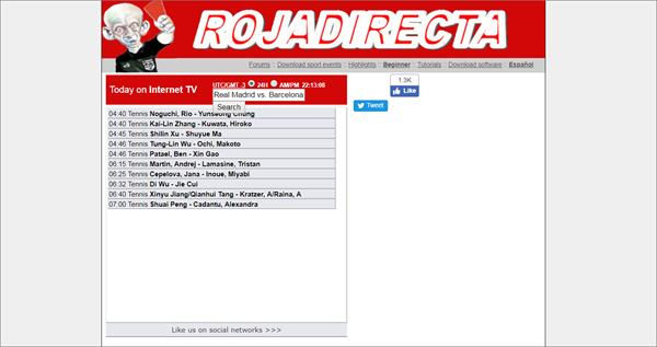 Rojadirecta is one of the top best Websites Like VipBox to Watch Sports Stuff.