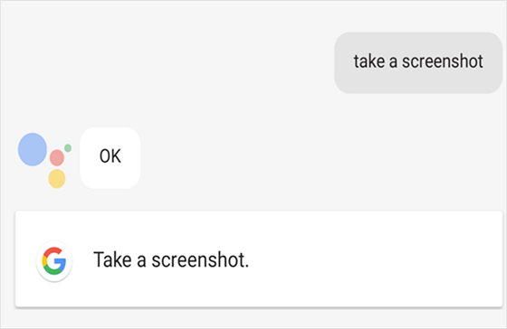 Use Google Assistant to take a Screenshot on Galaxy S9