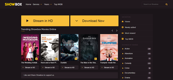 ShowBox is one of the top best Project Free TV Alternative Websites for Free Video Streaming.