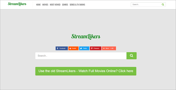 StreamLikers is one of the top best Rainierland Alternative Websites to Watch Movies.
