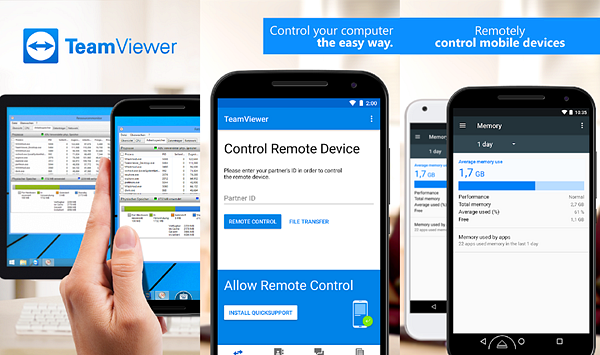 TeamViewer is one of the best Free Second Screen and Dual Monitor Apps for Android.