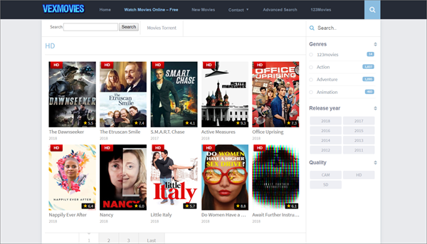 VexMovies is one of the bop best Alternatives to 123Movies for You.