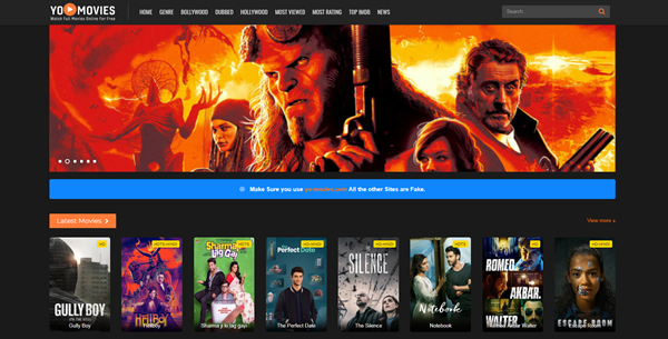 YoMovies is one of the top best Project Free TV Alternative Websites for Free Video Streaming.