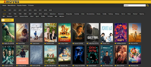 ZMovies is one of the top best Project Free TV Alternative Websites for Free Video Streaming.