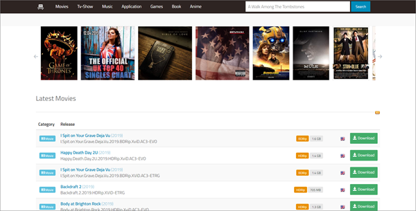 01Torrent is one of the best Torrent Sites to download TV Shows/Series.
