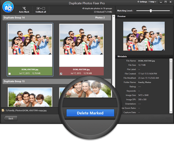 Using Duplicate Photos Fixer Pro to find and delete duplicate photos.