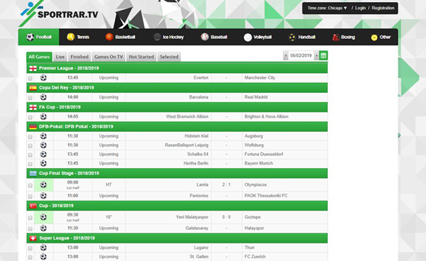 Sport RAR is one of the best Football Live Streaming Sites to Watch Soccer Live on TV.
