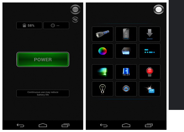 Tiny Flashlight is one of the Top Flashlight Apps for Android Phones.