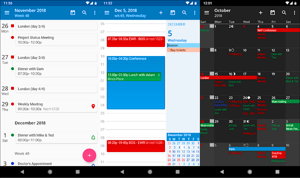 aCalendar is one of the best Calendar Apps for Android.