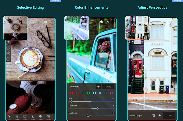 Adobe Lightroom CC is one of the best Instagram Story Template Apps for Android.