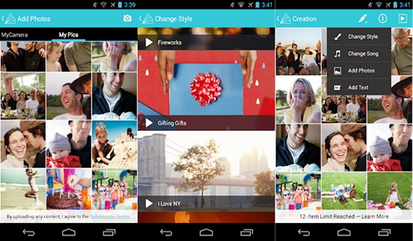 Animoto is one of the best Instagram Story Template Apps for Android.