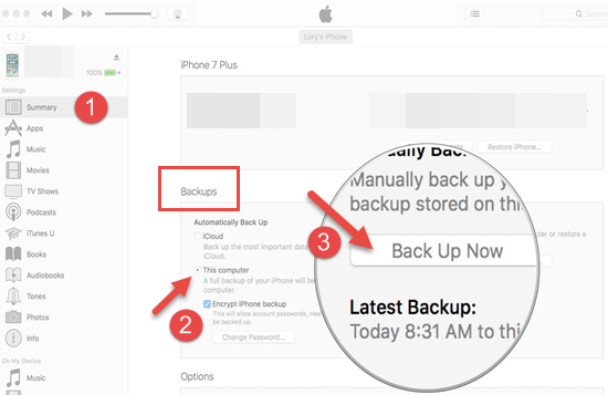 Save Contacts from iPhone Using iTunes backup