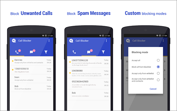Call Blocker Free is one of the best Call Blocker Apps for Android.