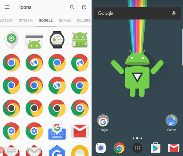 CandyCons is one of the top Icon Packs for Android.