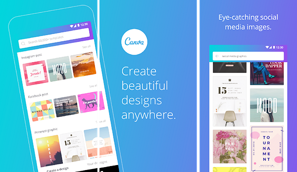 Canva is one of the best Instagram Story Template Apps for Android.