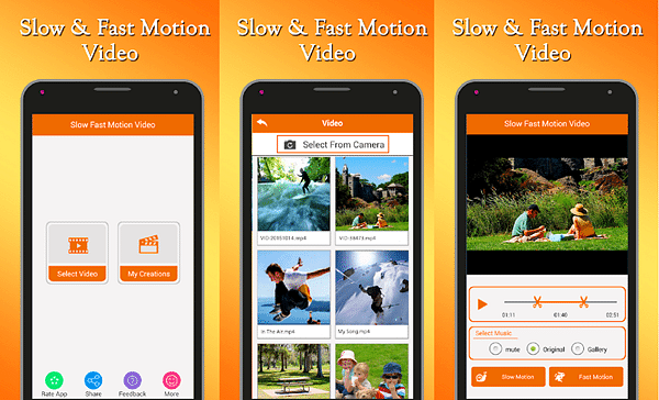 Fast & Slow Motion Video Tool is one of the top slow motion video Apps for Android.