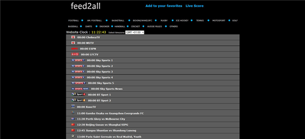 Feed2All is one of the best Football Live Streaming Sites to Watch Soccer Live on TV.